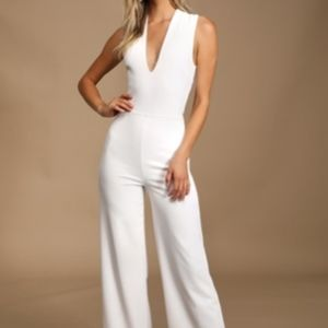 Lulu's Thinking Out Loud Backless Jumpsuit
